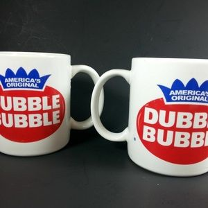 Other - Coffee Cup Dubble Bubble Lot Of 2